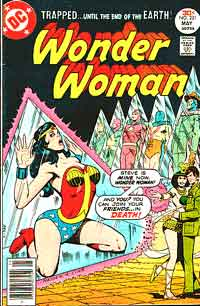 Steve Trevor ditches Wonder Woman for the newest pair of hooters to breeze into town. But he was hypnotized at the time, I swear.
